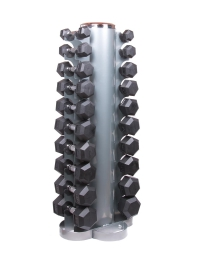 Dumbbell Storage Rack-Set mit Hex Hanteln 1-10Kg.