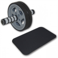 Tunturi Double Exercise Wheel Deluxe Ab Roller mit Matte